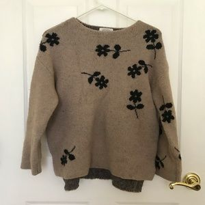 Zara Flower Sweater